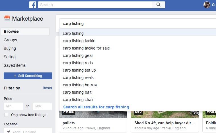 Facebook Carp Fishing Tackle