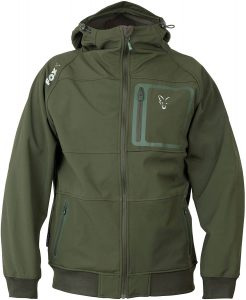 Fox green and silver soft shell hoodie